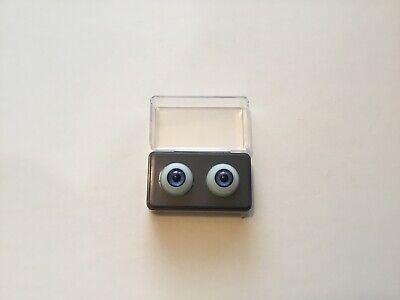- 18mm Blue Glastic Realistic Acrylic Doll Eyes