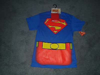 SUPERMAN SHIRT WITH CAPE  COMBO NEW WITH TAGS ADULT