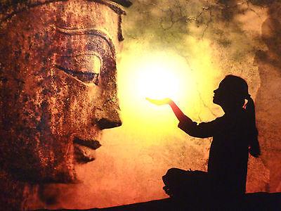 Karte Buddha Ruhe  Licht  Meditation Yoga  VERSANDKOSTENFREI!