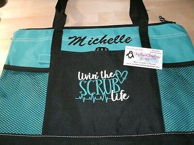 Nurse Scrub Life Personalized Tote Bag LPN, RN, CNA, HHA, BSN](Nurse Tote)