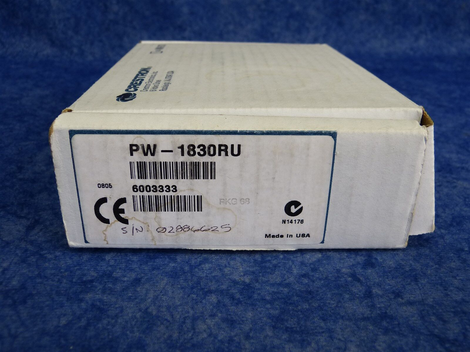 NEW Crestron PW-1830RU / Power Pack for IM Receivers, 18 VDC, 3A Regulated