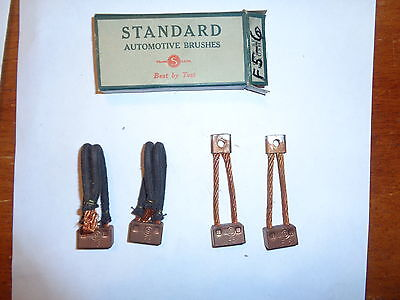 One Set of 4 NOS Standard Starter Brushes Ford All Types 1928 33  2 F5  2 F6
