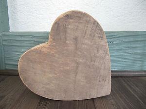 Herz aus Holz massiv Unikat  LIEBE HOCHZEIT MUTTERTAG VALENTINSTAG Neu