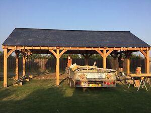 Bespoke Oak Car Port Or Garage - High Spec Fully Built Solution