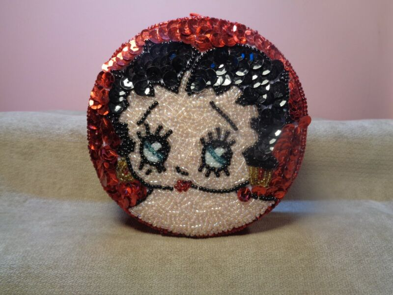"BETTY BOOP PILLOW TOP SEQUENCE TRINKET 4"" X 1.5"" BOX (DL33)"