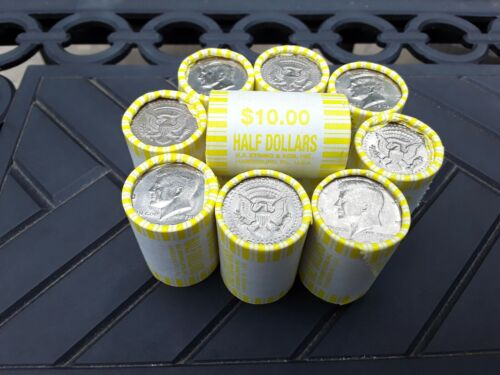 One (1) Unsearched Kennedy Half Dollar Rolls POSSIBLE 40% or 90% Silver Coins