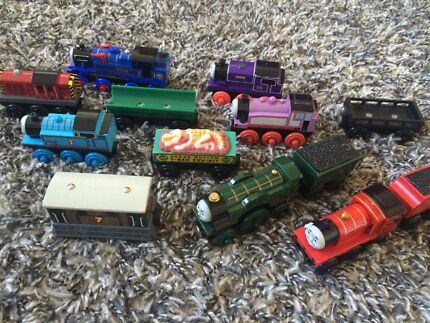 Thomas wooden trains lot james Emily Toby salty belle Charlie Rosie  Wilton Wollondilly Area Preview