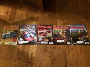 Five vintage car magazines