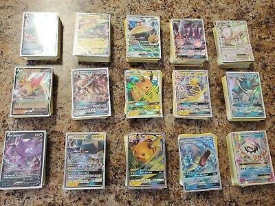 Pokemon Cards - Mystery Packs - 57 Cards! Guaranteed GX/V Rare! Read Breakdown