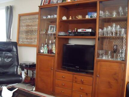 SOLID PINE TV / WALL UNIT Bundamba Ipswich City Preview