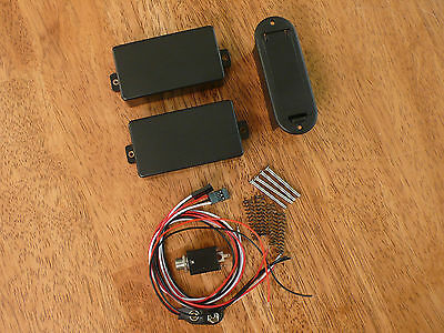 ACTIVE HUMBUCKER PICKUP SET 81/85 BLACK WITH 25K POTENTIOMETERS Active Humbucker Pickup Set