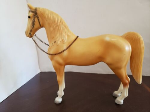🚩 VTG 1950s BREYER PALOMINO PONY WESTERN HORSE # 55 CHAIN REINS U.S.A. NO STAMP