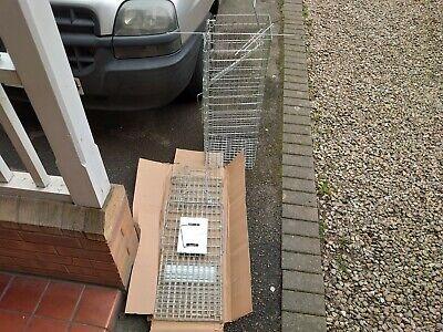 2x Extra Large Animal Rabbit,Squirrel,Skunk,Mink ETC Cage Traps 80x30x30CM