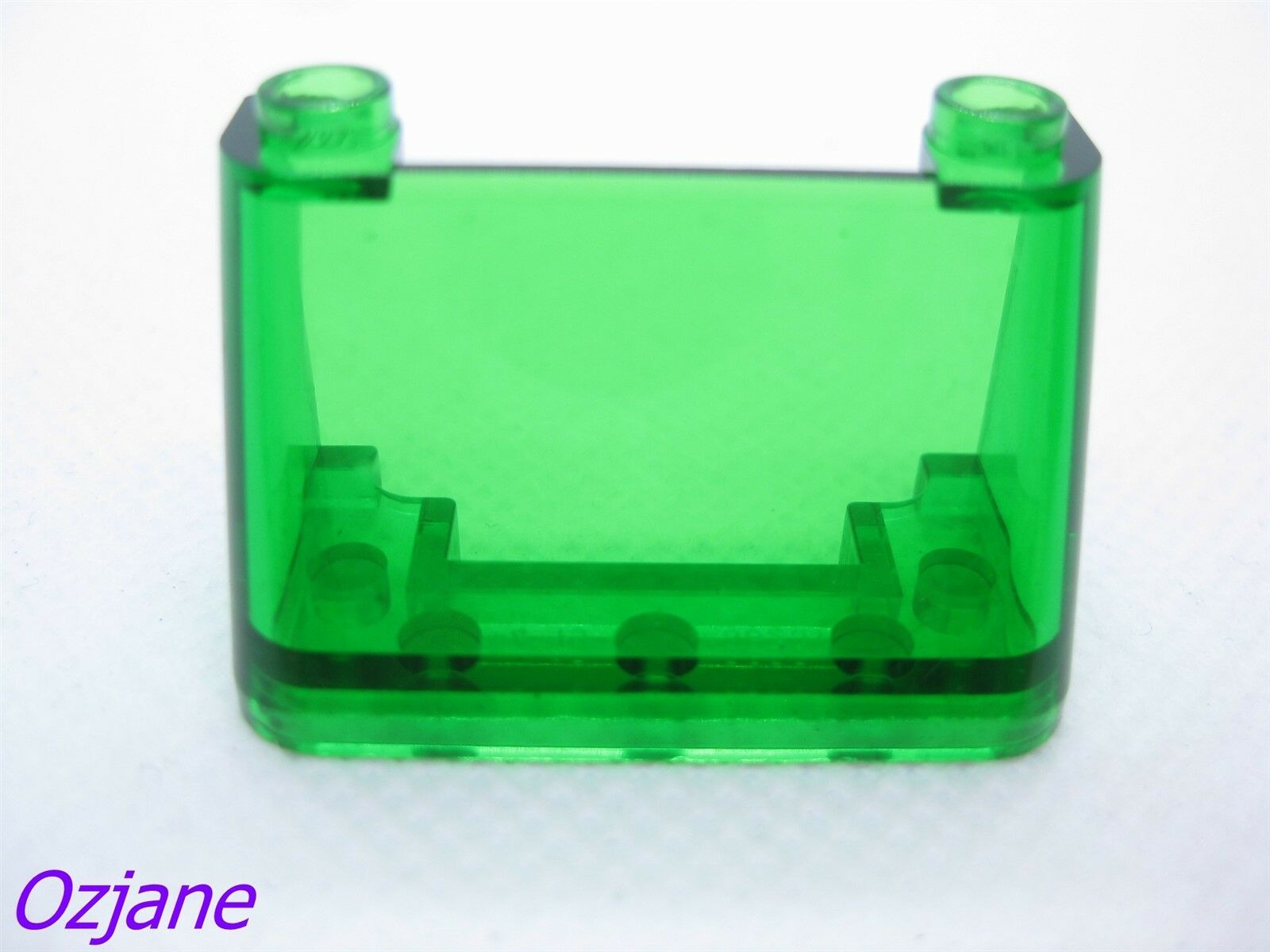 NEW Lego 3823-2 x 4 x 2 pack of 2 Trans Clear Windscreen