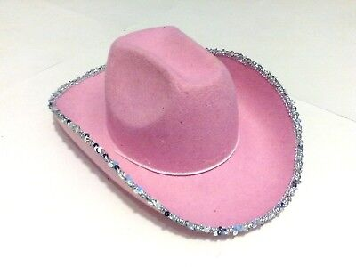 Pink Cowgirl Hat for rave birthday land yauht costume party halloween outfit  - Cowgirl Hats For Halloween