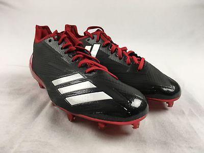 NEW adidas adizero 5-Star 6.0 Low - Black/Red Cleats (Men's Multiple Sizes)