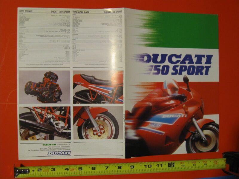 1990 Ducati 750 Sport brochure