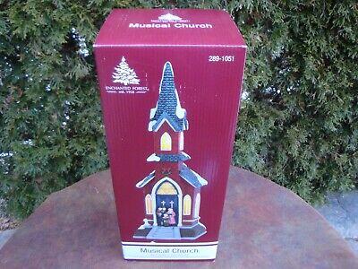 Christmas Village Prelit LED Musical Church by Enchanted Forest #289-1051 NIB