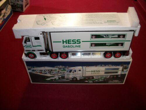 2003 HESS TOY TRUCK RACE CARS .MINT IN BOX