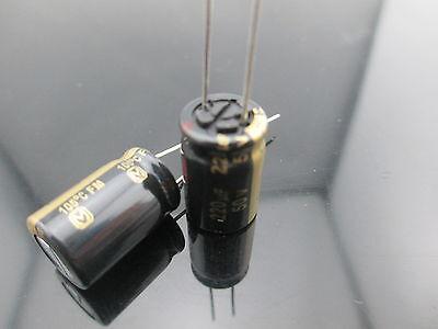 2pcs Japan Panasonic Fm 220uf 50v 220mfd Impedance Electrolytic Capacitors