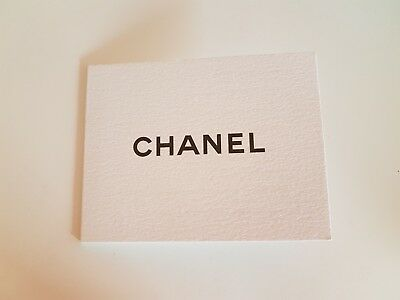 CHANEL WISH LIST CARD NEW
