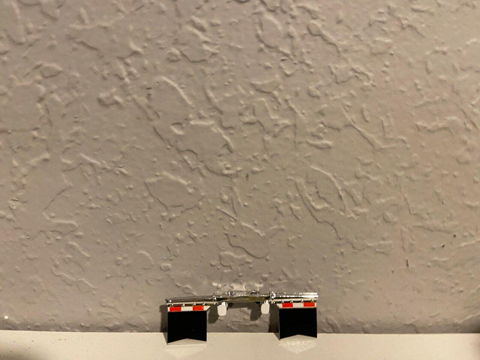 BLACK DCP 1/64 PETERBILT 379/389 MUD FLAPS W/O LOGOS WHITE LIGHTS
