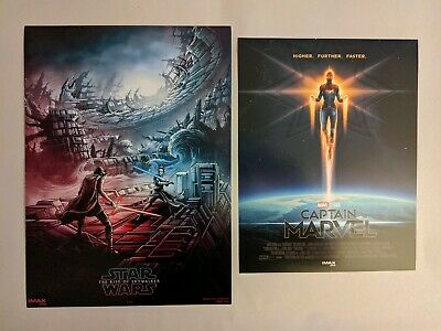 Star Wars The Rise Of Skywalker AMC IMAX Poster ➕ Captain Marvel 🔲#1🔲SHIP FLAT