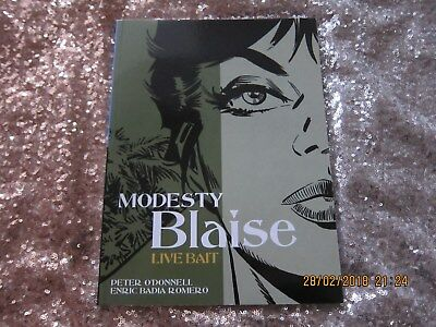 MODESTY BLAISE GRAPHIC NOVEL- TITAN BOOKS  BY O'DONNELL/ROMERO- GOOD.