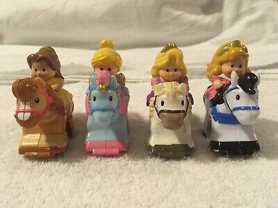 Fisher Price Little People KLIP KLOP HORSES Lot of 4 Cinderella Belle Rap Aurora