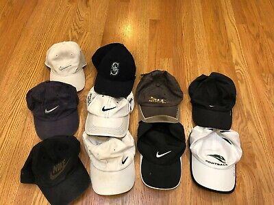 Lot Of 10 Nike Sports Hats Cap Mixed Dad Running Logo Golf Casual Baseball Mens