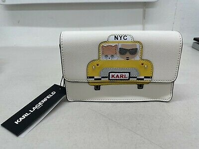 Karl Lagerfeld Paris Maybelle Printed Crossbody Bag - Taxi / White
