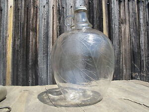 ONE GALLON VINEGAR JUG WHITE HOUSE APPLE SHAPE