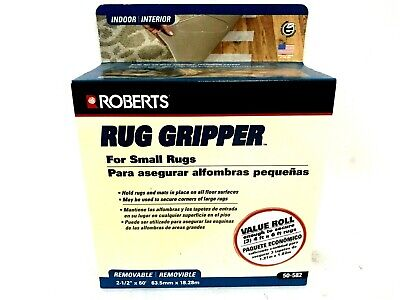 Roberts Rug Gripper 2 Sided Tape For Small Rugs 2 12 X 60 Removable Indoor