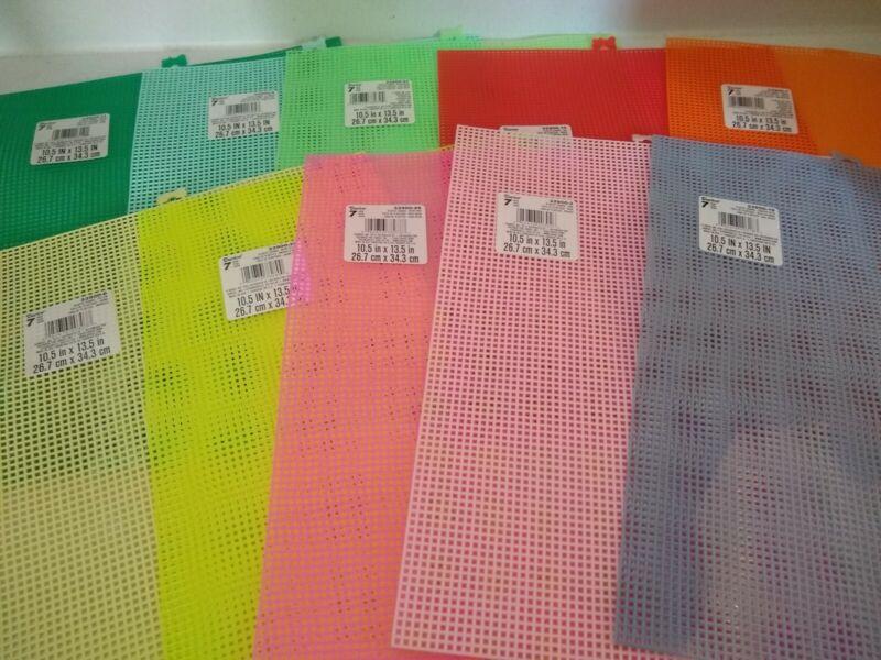 "Darice Plastic Canvas Sheets 10.5"" x 13.5""   Mesh 20 Colors Pick A Color"