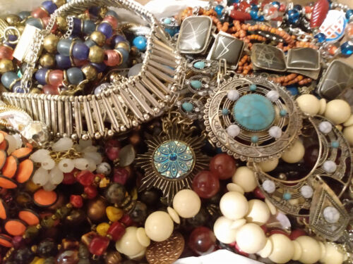 Huge Jewelry Lot All Necklaces Wear/Repair/Craft MFR box 10 LBS