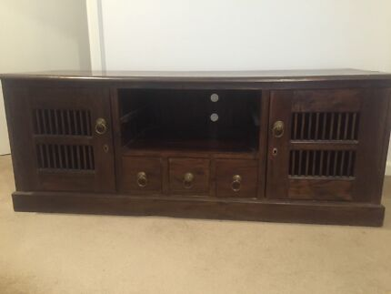 TV cabinet timber large
