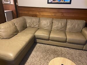 Modular leather lounge
