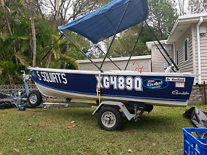 12 ft Dehaviland trailor  and 15hp outboard Aspley Brisbane North East Preview