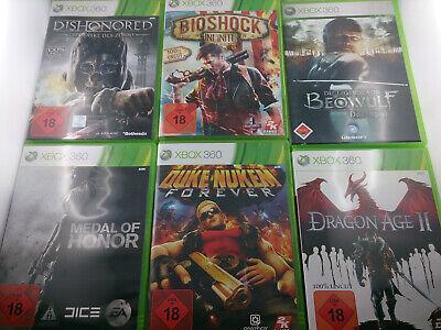 Microsoft Xbox 360 USK 18 Spiele Bundle 10 Spiele DVD Box PAL Spiel Game