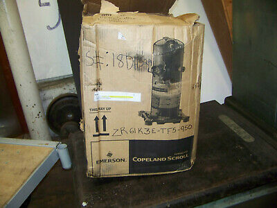 Emerson Copeland Scroll Compressor 208-230v 3ph 60 Hz Zr61k3e-tf5-7m1 New