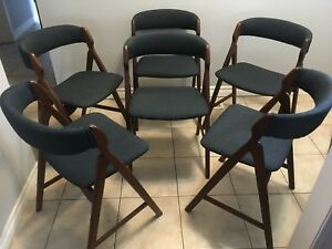 Lovely set of 6 Mid century modern Danish Teak dining chairs