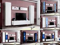 Salón Modular De Pared Estantería Air A Alto Brillo Pvc Iluminación Led -  - ebay.es