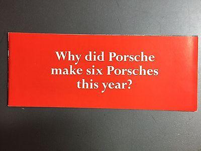 "1970 Porsche 911 & 914  ""Why did Porsche make six..."" Brochure RARE Awesome L@@K"