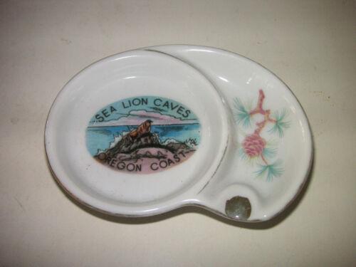 Vintage  Ashtray Sea Lion Caves Oregon Coast Souvenir