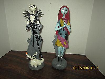 Disney Nightmare Before Christmas Sally & Jack Skellington Zero Statue Figurine
