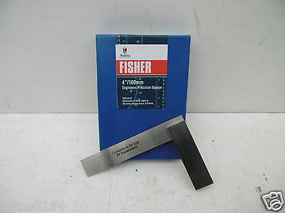 """FISHER 4"""" 100MM ENGINEERS PRECISION STEEL SQUARE F414"""