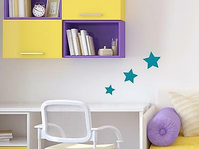Wandtattoo Sterne Set 3 Stück>>>10cm; 8cm; 6cm Kinderzimmer Schlafzimmer - 3 Stück Schlafzimmer Set