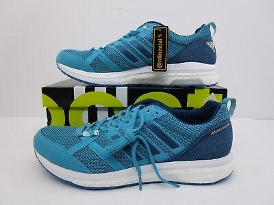 f8513a8cdd789 Adidas Adizero Tempo 9 Men Green Blue Running Shoe Size 12 US