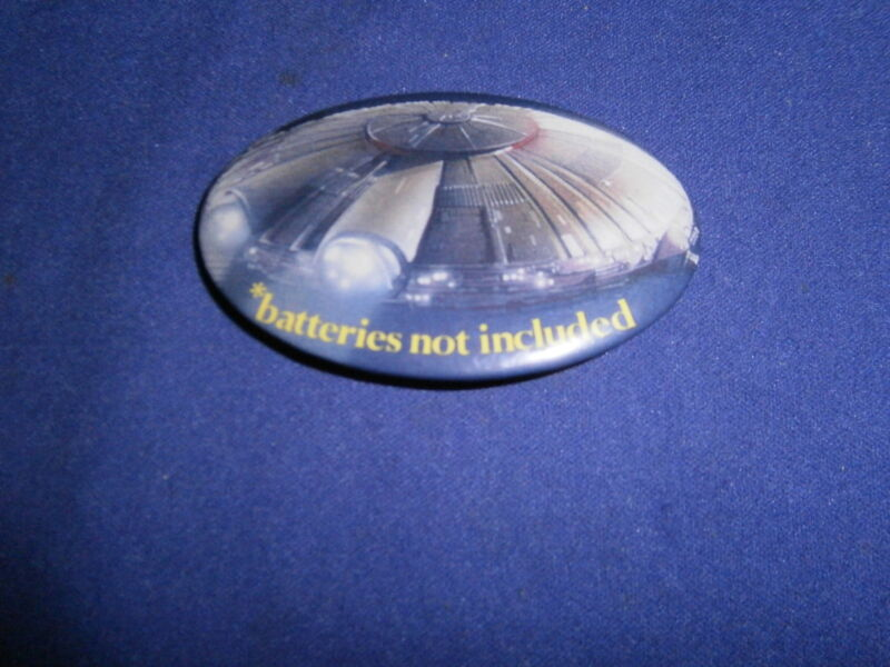 Vintage Batteries Not Included Movie Advertising Promo Pinback Button Universal