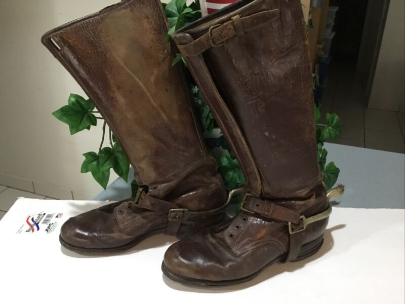 WWI / SPANISH AMERICAN WAR  CALVARY BOOTS WITH SPURS